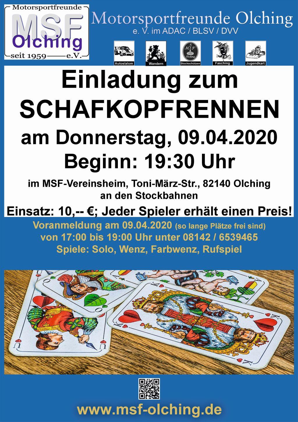 MSF-Schafkopfturnier am 09.04.2020